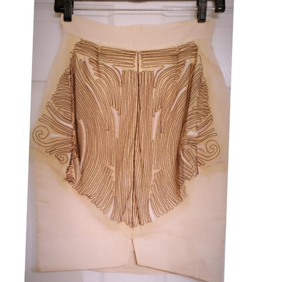 Fendi Dresses & Skirts - FENDI cream linen mini skirt